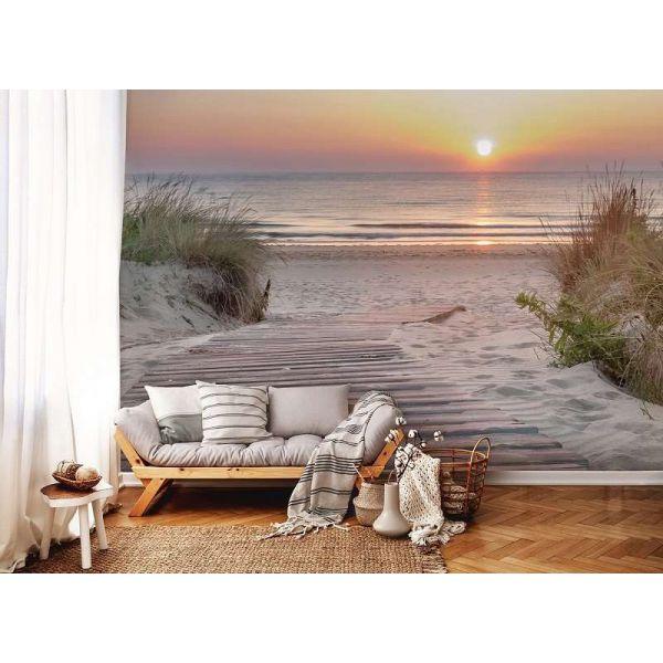 Fototapet decorativ - Apus la malul marii - Vlies/ 368x254 cm/4 p.