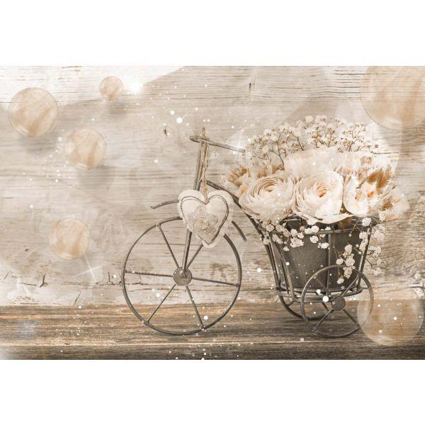 Fototapet decorativ - Bicicleta cu flori - 312 x 219 / Vlies