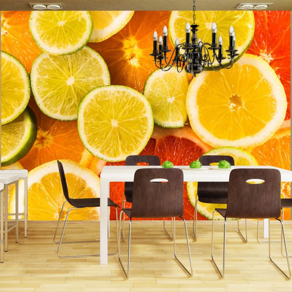 Fototapet decorativ - In bucatarie / Vlies / 368x254cm