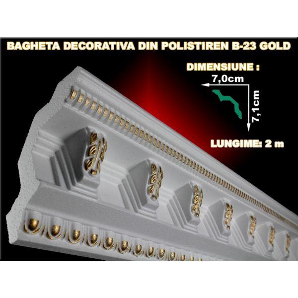 Decoratiuni arhitecturale de interior / Baghete polistiren / Gold / 2 ml