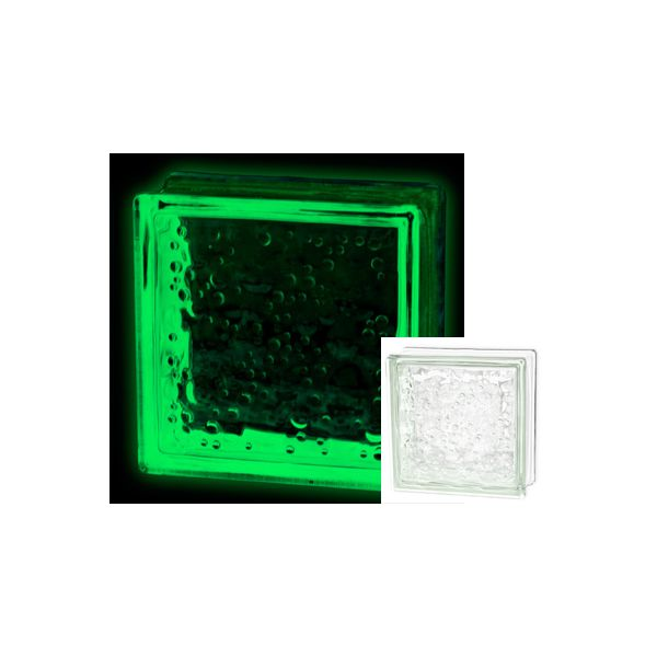 Caramida sticla luminoasa - Verde / Turquoise