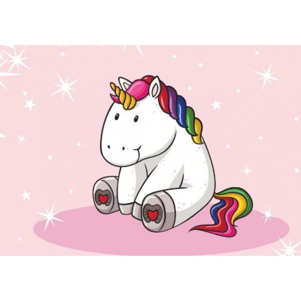 Fototapet decorativ pentru copii - Unicorn bebelus- 254x184 cm/2 p.