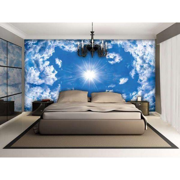 Fototapet decorativ fotoluminos - Cer albastru -Vlies