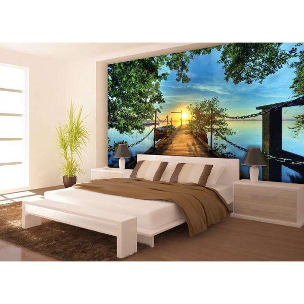 Fototapet decorativ fotoluminos - Apus de soare - Vlies