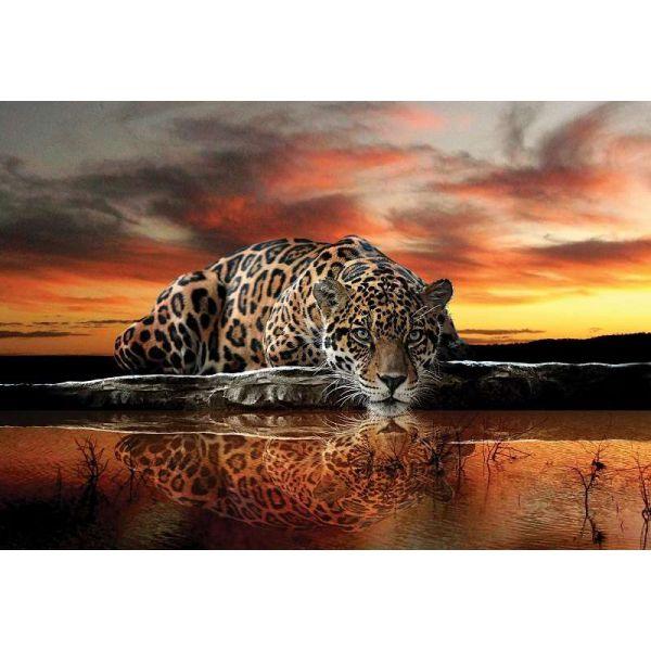 Fototapet decorativ fotoluminos - Jaguar - Vlies